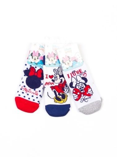 Minnie Mouse   6 Çift Soket Çorap 15989 Kırmızı